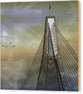 Anzac Bridge Wood Print
