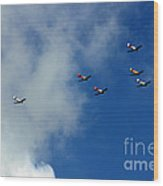Anzac Day 2014 Auckland Harvard Flight Wood Print