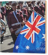Anzac Day In Perth  Wood Print