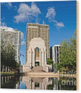 Anzac Memorial And Pool Of Reflection Wood Print
