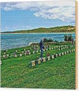 Anzak Cemetery Along The Dardenelles In Gallipolii-turkey Wood Print