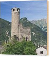 Aosta Valley - Chatelard Ruins Wood Print