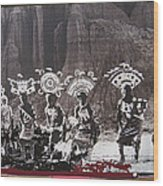 Apache Crown Dancers Date And Location Unknown 2013 Wood Print