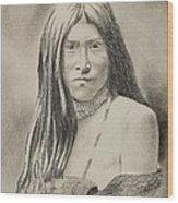 Apache Girl 1906 Wood Print