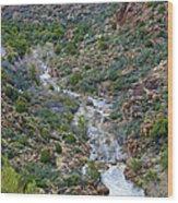 Apache Trail River View Wood Print