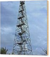 Apalachee Fire Tower In Morgan County Wood Print