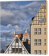 Apartment Houses In Gdansk Wood Print