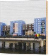 Apartments Rotterdam Wood Print