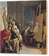 Apelles Painting The Portrait Of Campaspe Wood Print