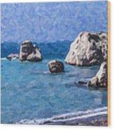 Aphrodites Rock Cyprus Wood Print