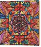 Aplomb Wood Print by Teal Eye  Print Store