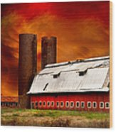 Apocalypse At Rolling Fork Wood Print by T Lowry Wilson