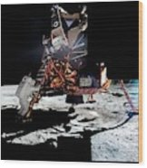 Apollo 11 Moon Landing Wood Print