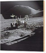 Apollo 15 Lunar Rover Wood Print