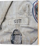 Apollo Lunar Suit Wood Print