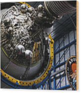 Apollo Mission Space Craft Wood Print