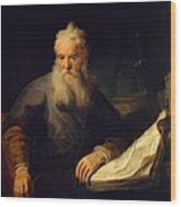 Apostle Paul Wood Print by Rembrandt