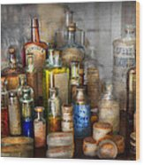 Apothecary - For All Your Aches And Pains  Wood Print