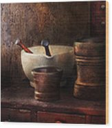 Apothecary - Pick A Pestle  Wood Print by Mike Savad