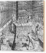 Apothecary Shop, 1688 Wood Print