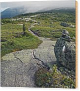 Appalachian Trail Mountain Path Saddleback Maine Wood Print