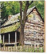 Appalachian Cabin Wood Print