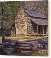 Appalachian Homestead Wood Print by Paul W Faust -  Impressions of Light