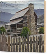 Appalachian Mountain Cabin Wood Print by Randall Nyhof