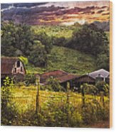 Appalachian Mountain Farm Wood Print