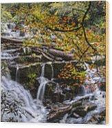 Appalachian Mountain Waterfall Wood Print