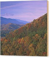 Appalachian Mountains Ablaze  Wood Print