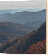 Appalachian Mountains North Carolina Wood Print