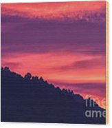 Appalachian Sunset After Storm Wood Print