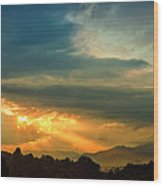 Appalachian Sunset Wood Print by William Schmid