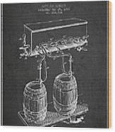Apparatus For Beer Patent From 1900 - Dark Wood Print