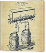 Apparatus For Beer Patent From 1900 - Vintage Wood Print