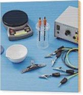 Apparatus For Electrolysis Of Seawater Wood Print