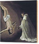 Apparition Of Apostle Saint Peter To Saint Peter Nolasco Wood Print