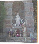 Apparition Of Virgin Mary Wood Print