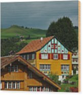 Appenzell Famous Windows Wood Print