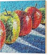 Apple A Day Wood Print