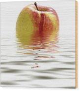 Apple Afloat Wood Print