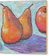 Apple And Pear Twirl Wood Print