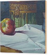 Apple And Pottery Wood Print