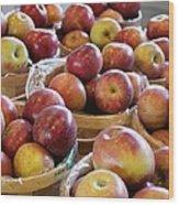 Apple Baskets Wood Print