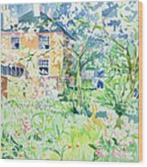 Apple Blossom Farm Wood Print