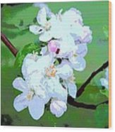 Apple Blossoms In The Spring - Painting Like Wood Print