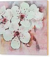 Apple Blossoms Pink - Digital Paint Wood Print