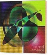 Apple Blur Wood Print by Iris Gelbart