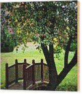 Apple Bridge Wood Print